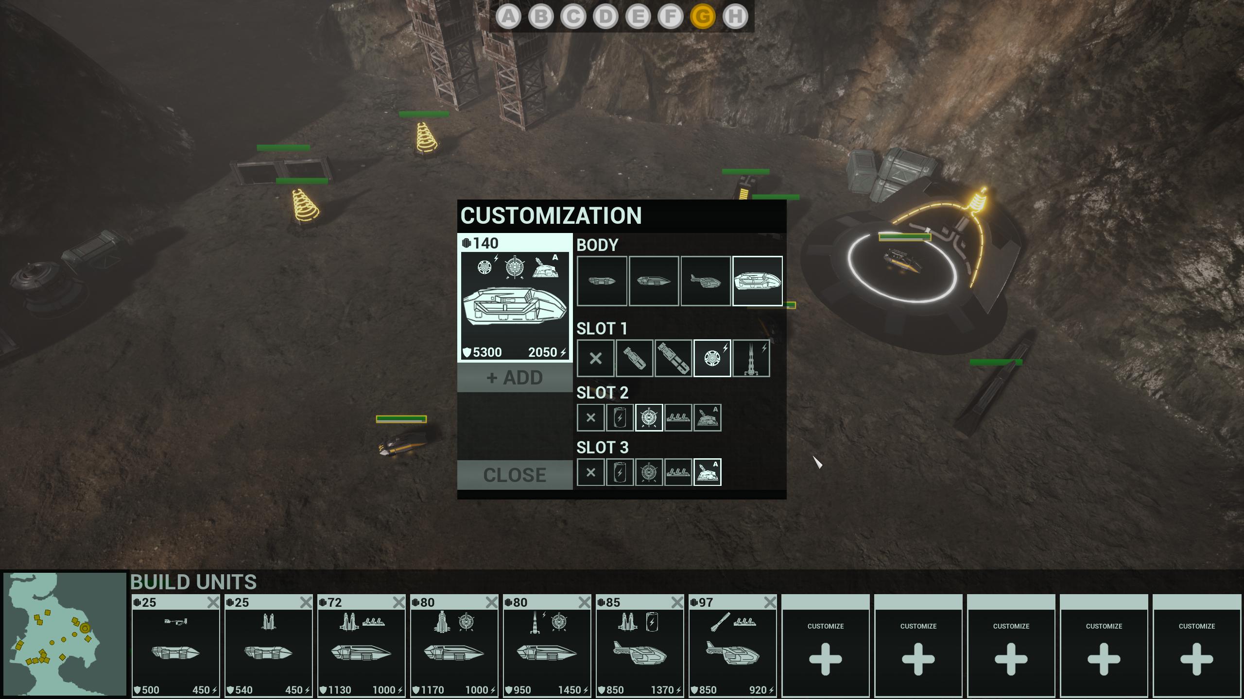 Units customization