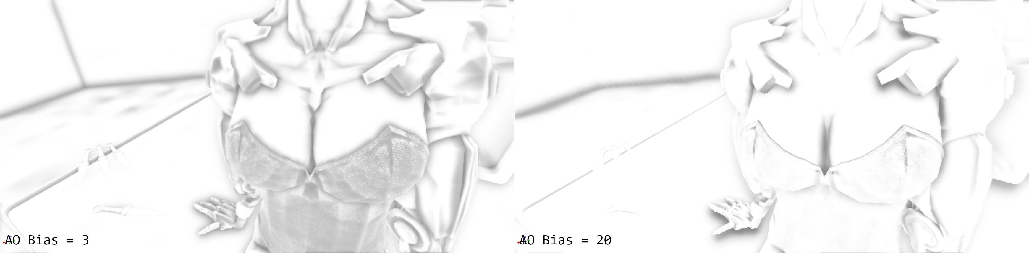 post-process AO bias value comparison