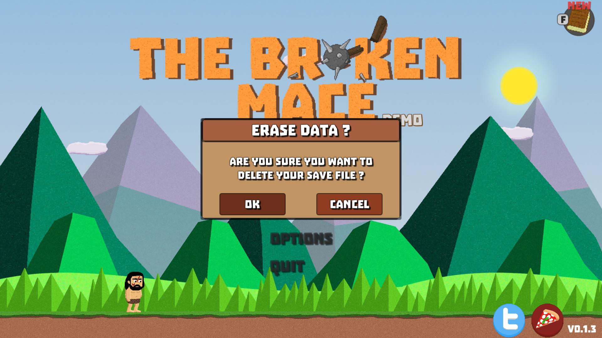 Erase Data menu