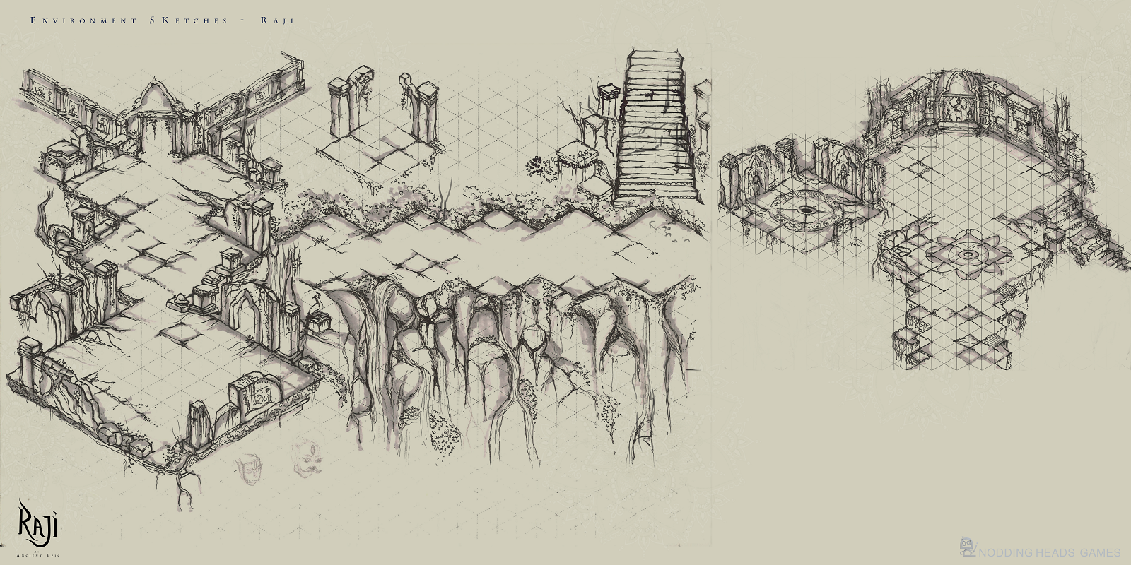 Raji Sketches Temple Arena 02