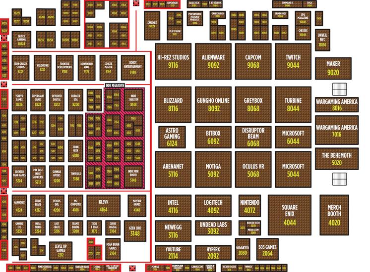 PAX Showroom Floor Map
