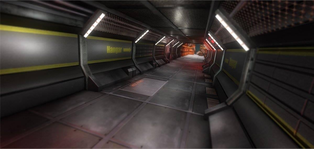 Battleship wrack corridor inside