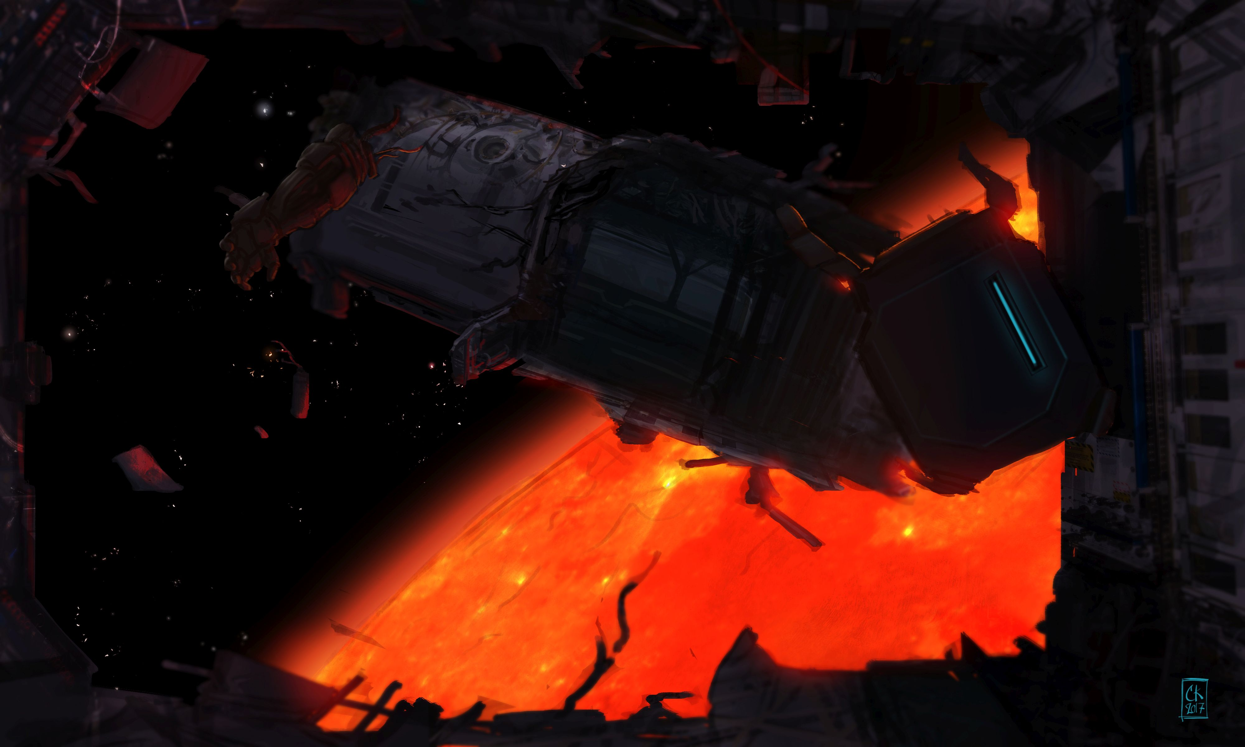 Concept battle rubble