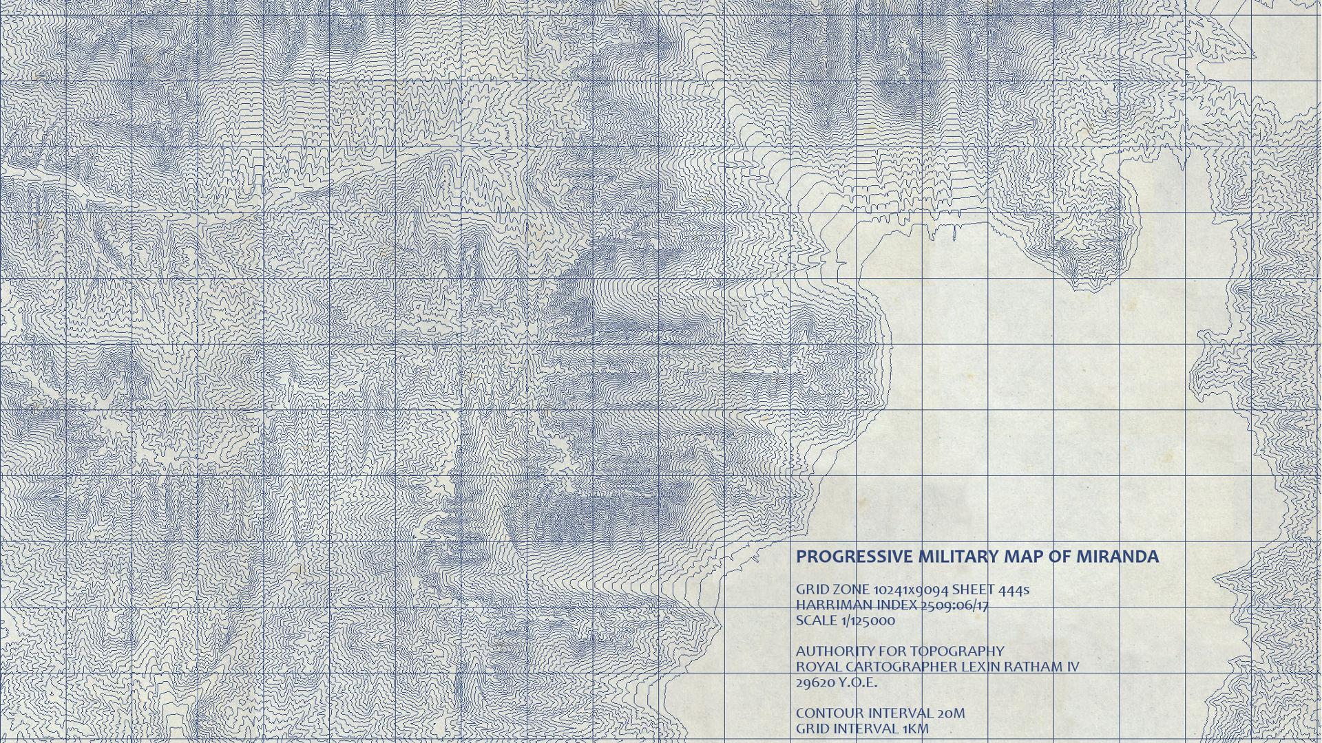 Progressive Military Map of Miranda