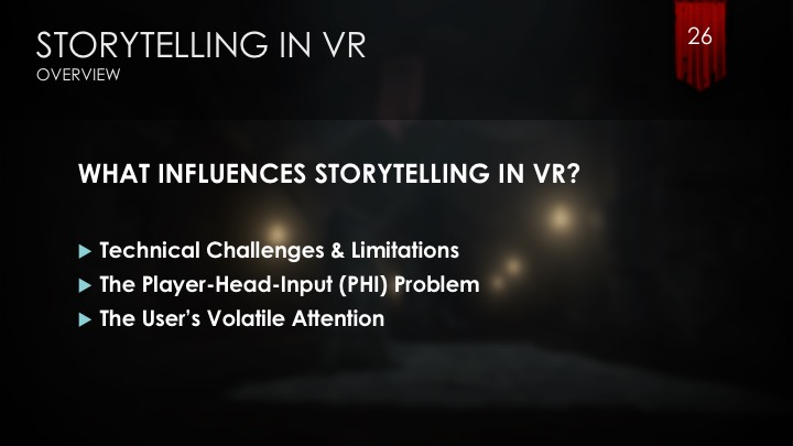 influences on storytelling in vr