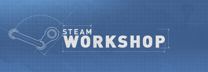 The logo of the steam workshop
