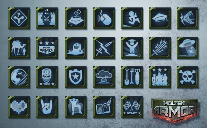 Molten Armor achievements