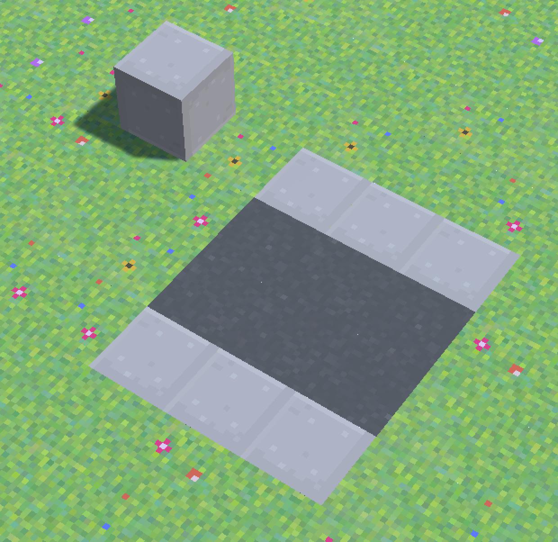 New sidewalk block