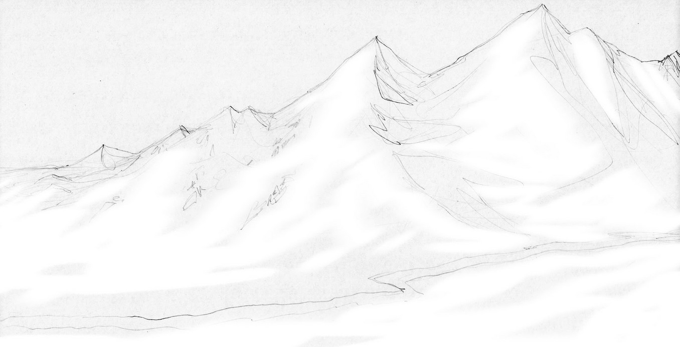 snowy wasteland sketch