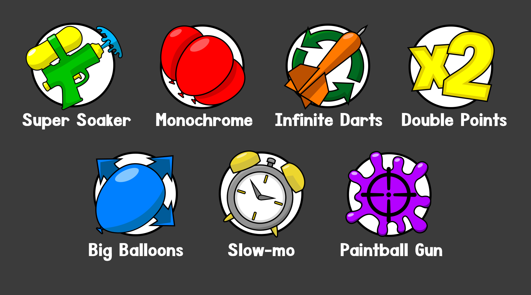 Powerup Icons Collage