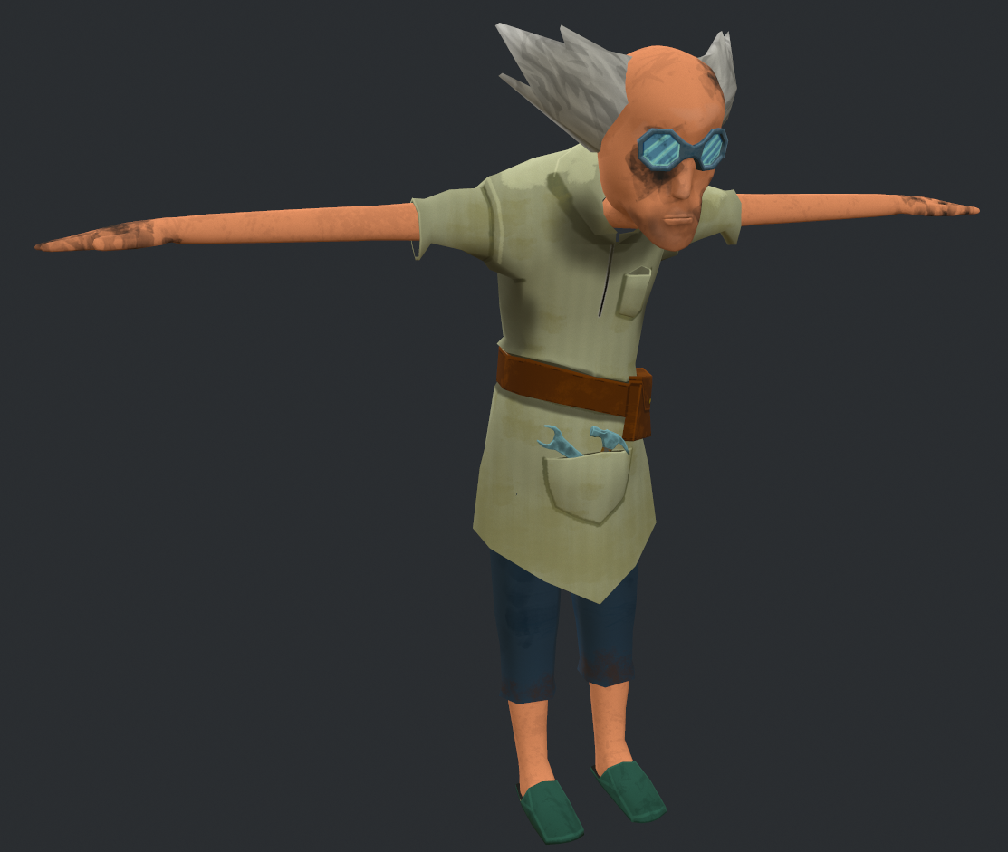 shop keeper T pose textured crop