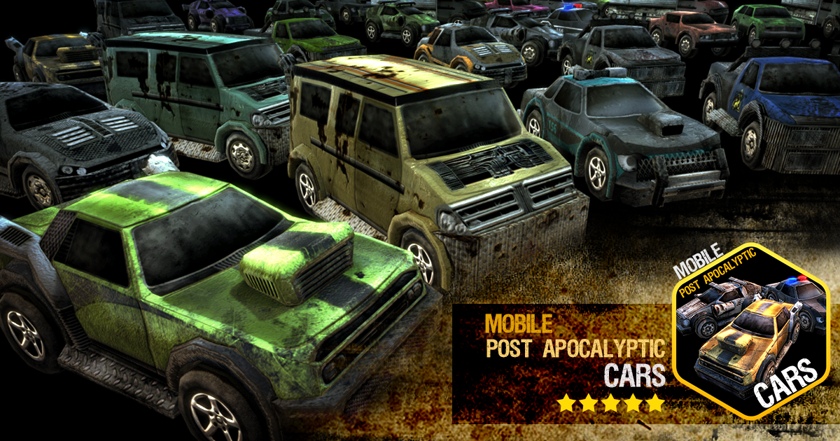 Mobile Post Apocalyptic Cars - Unity Asset Store