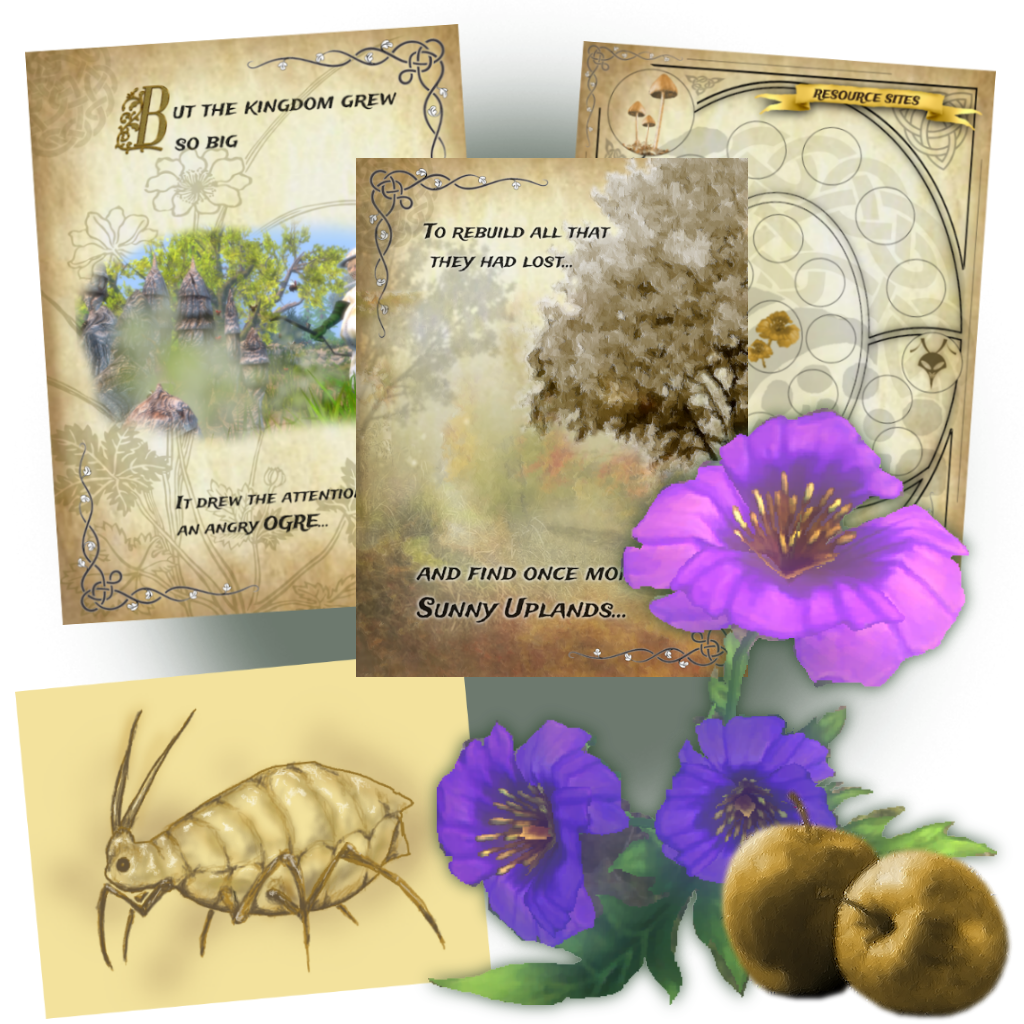 Art used in the creation of the Book of Hive Lore