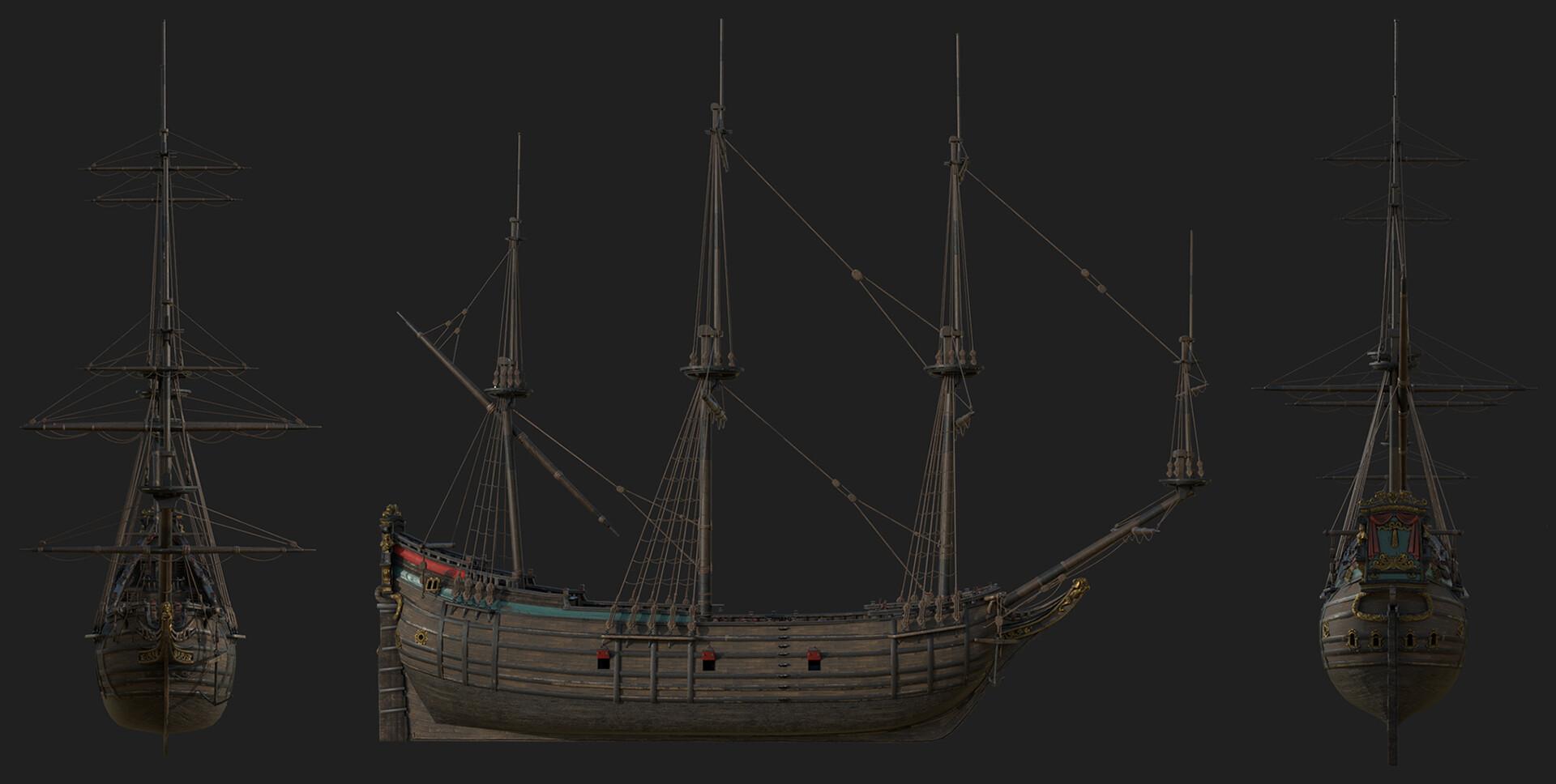 vladimir sitnik ship fluyt 1600
