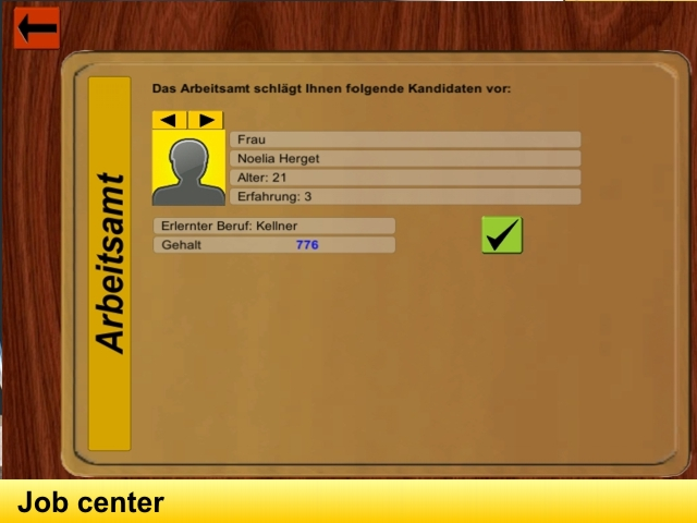 Screen: jobcenter (hire employees)