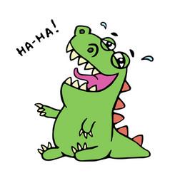 dinosaur laughs unbridled joy ve