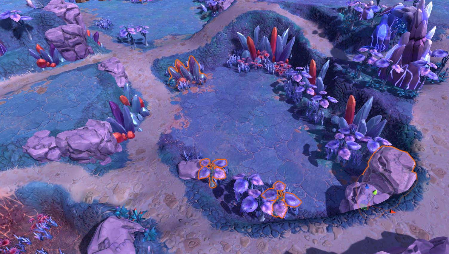 vegetation on terrain