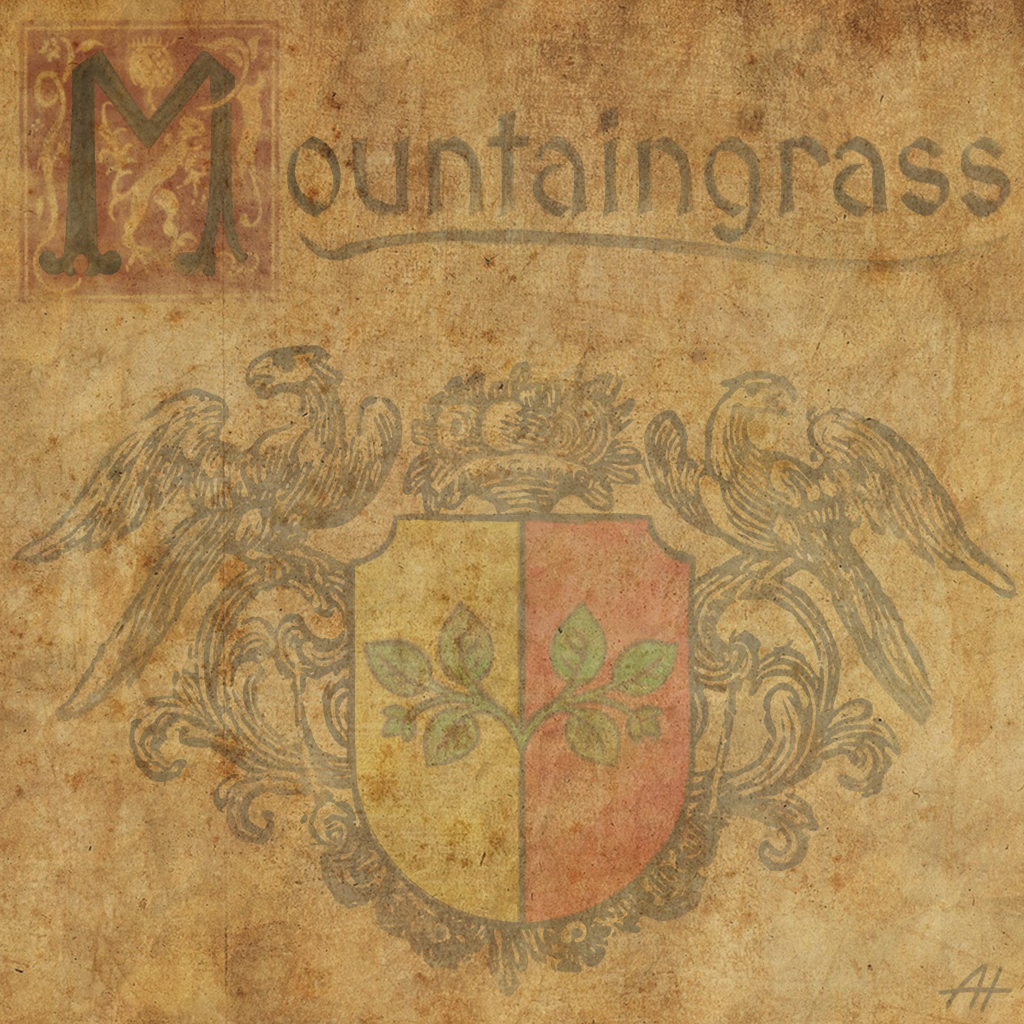 The emblem of the village Mountaingrass from the game Crevice