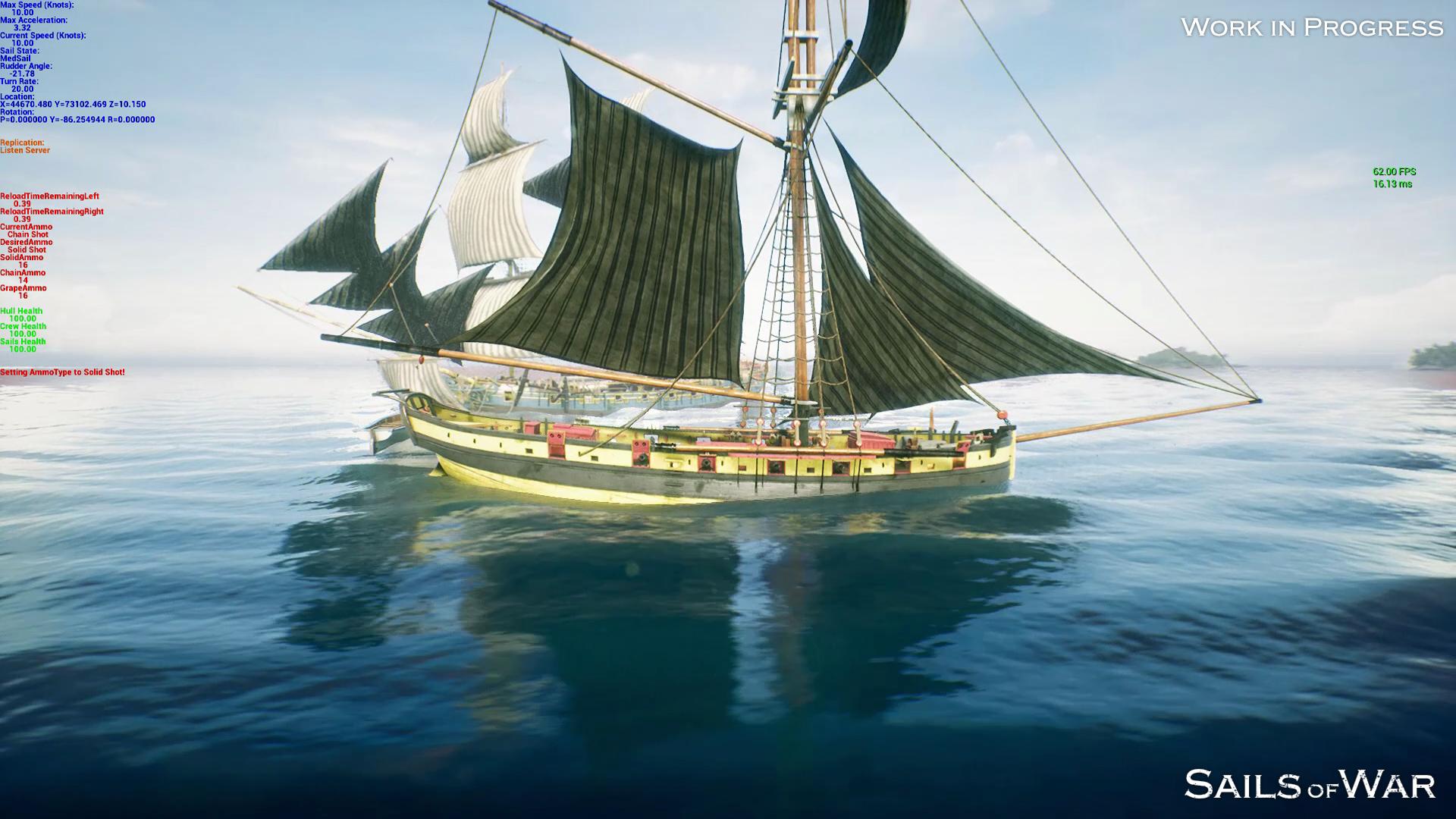 Sails of War Online Play Screenshot Work in Progress
