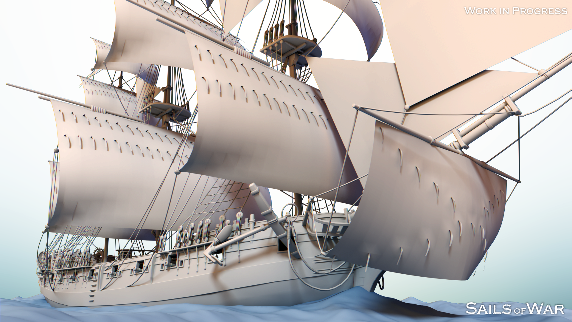 Sails of War - Sloop Clay Render