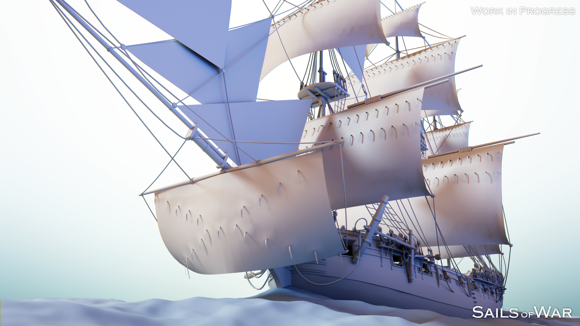 Sails of War Sloop Render
