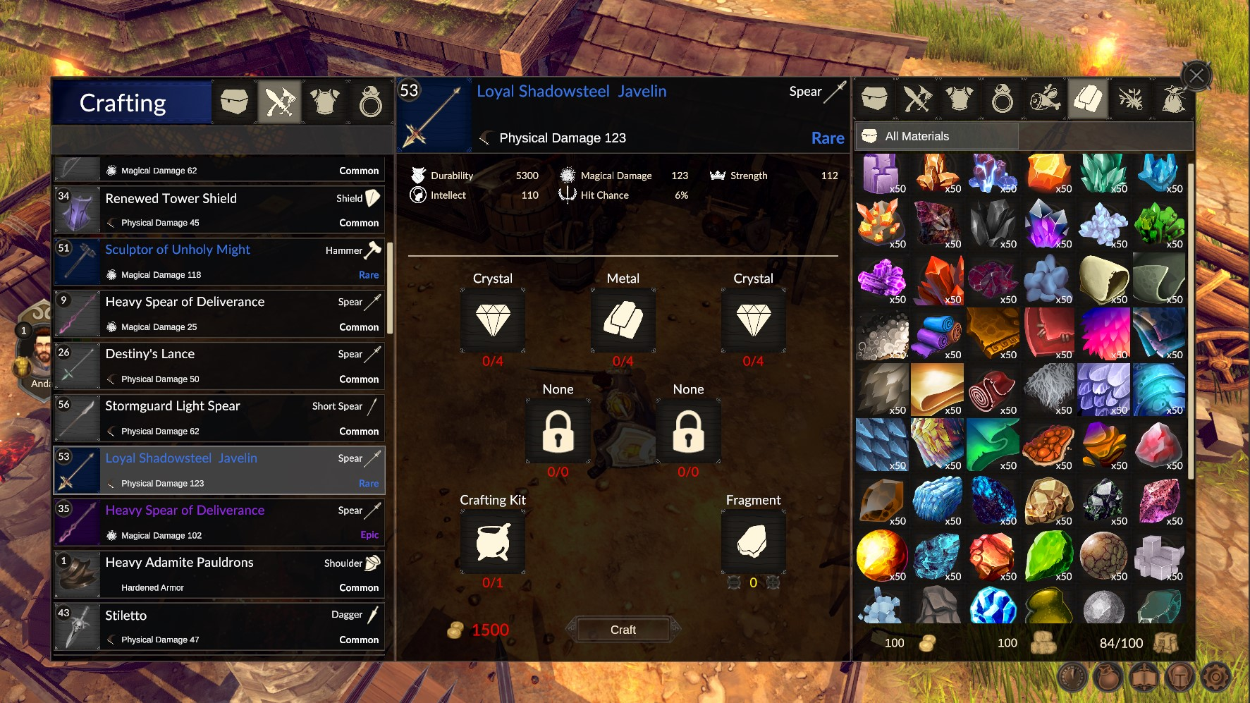 Zoria Age of Shattering Crafting 1