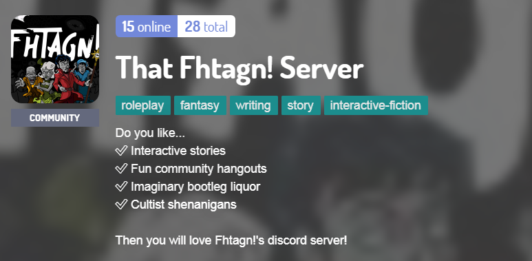 That Fhtagn! Server