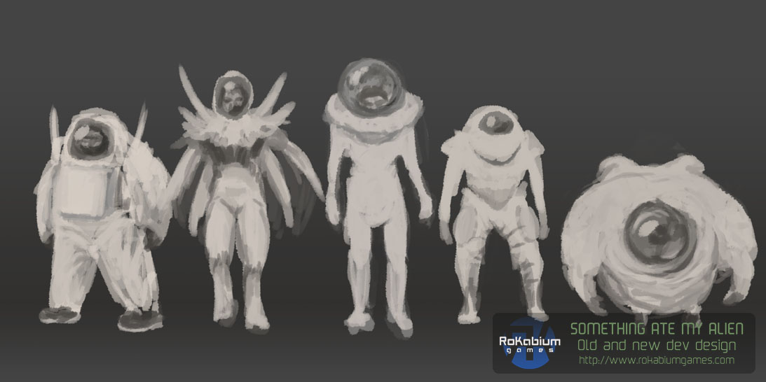 The early concepts of the Alien.