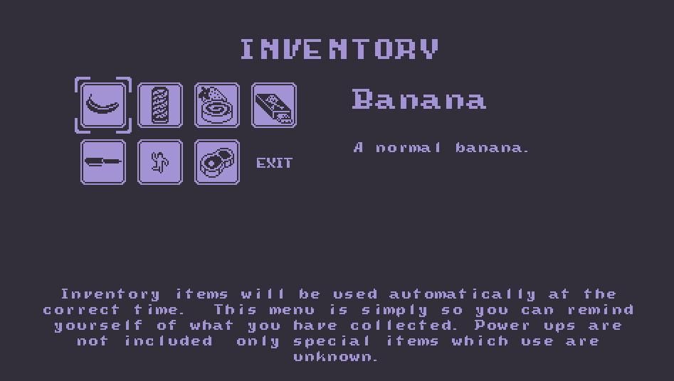 item screen
