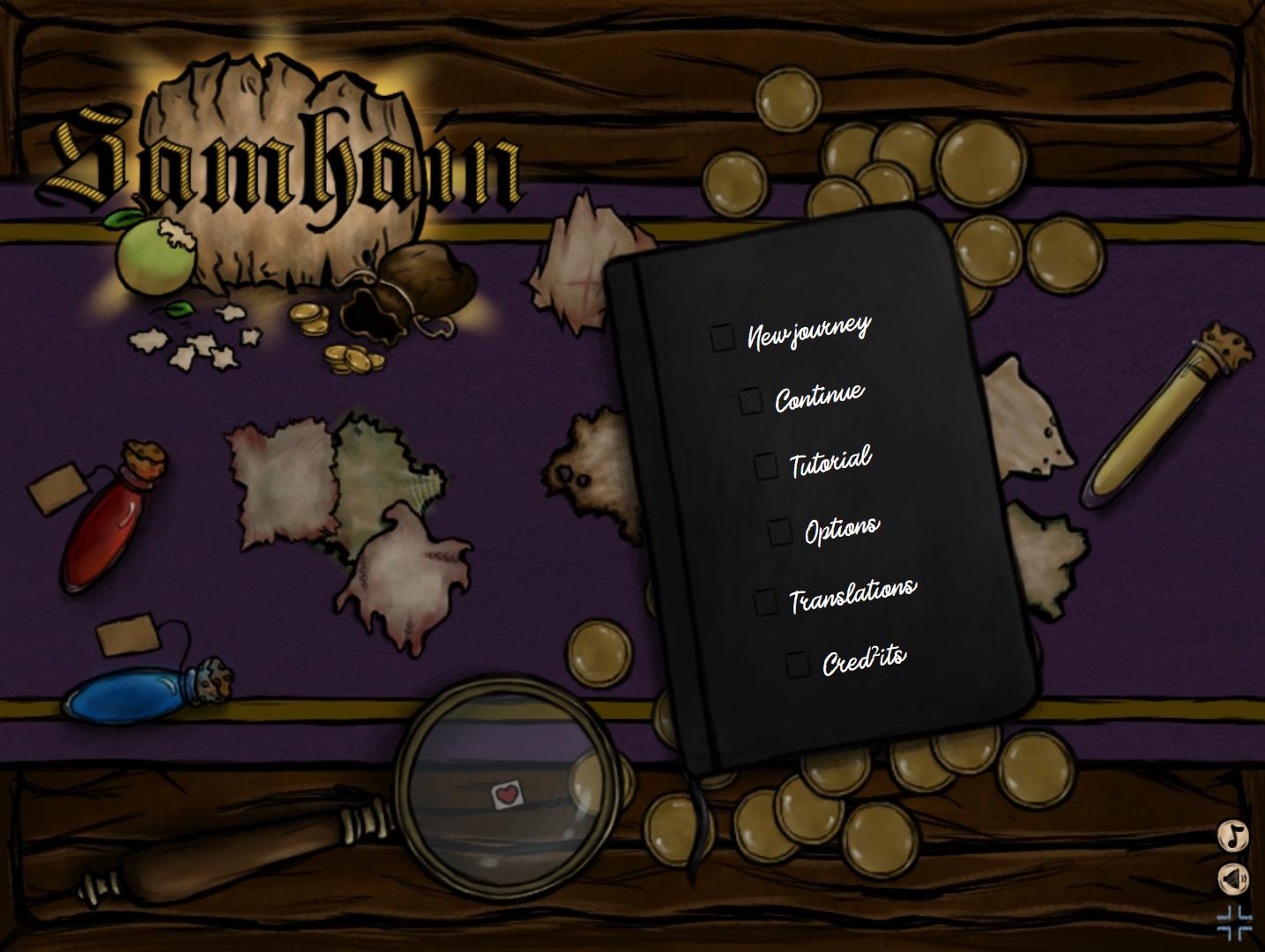 Samhain - Game menu