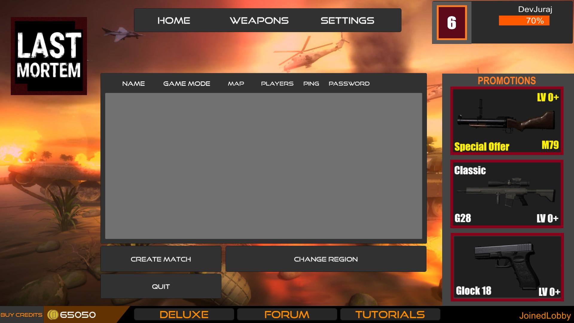 Updated Main Menu UI with Credits
