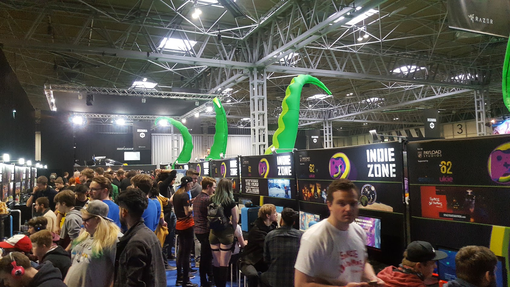 The Indie Zone got VERY busy