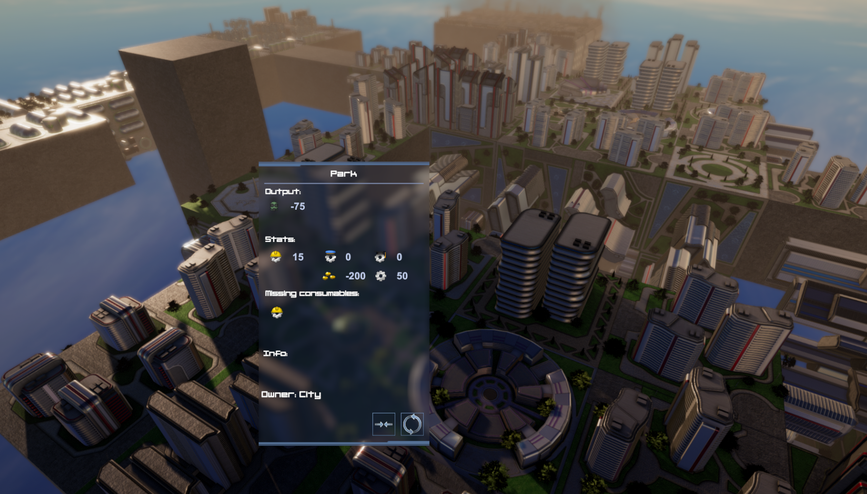 UI with building info