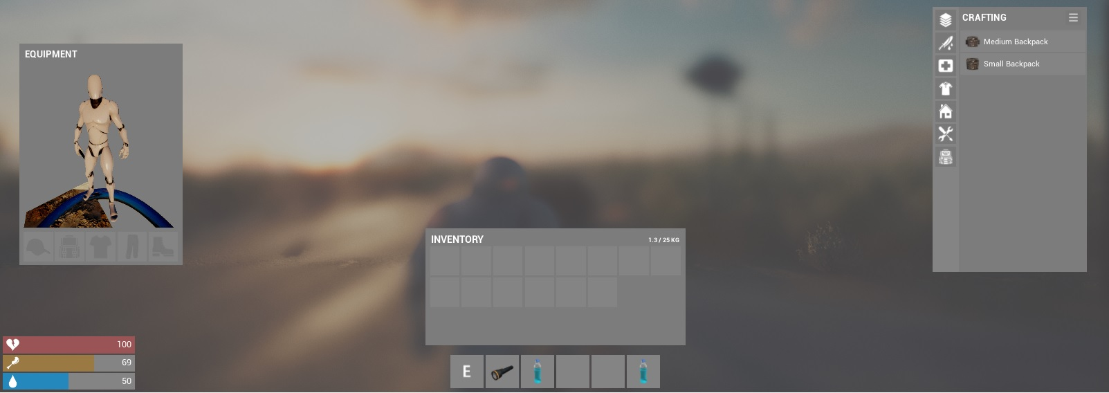 inventory and crafting