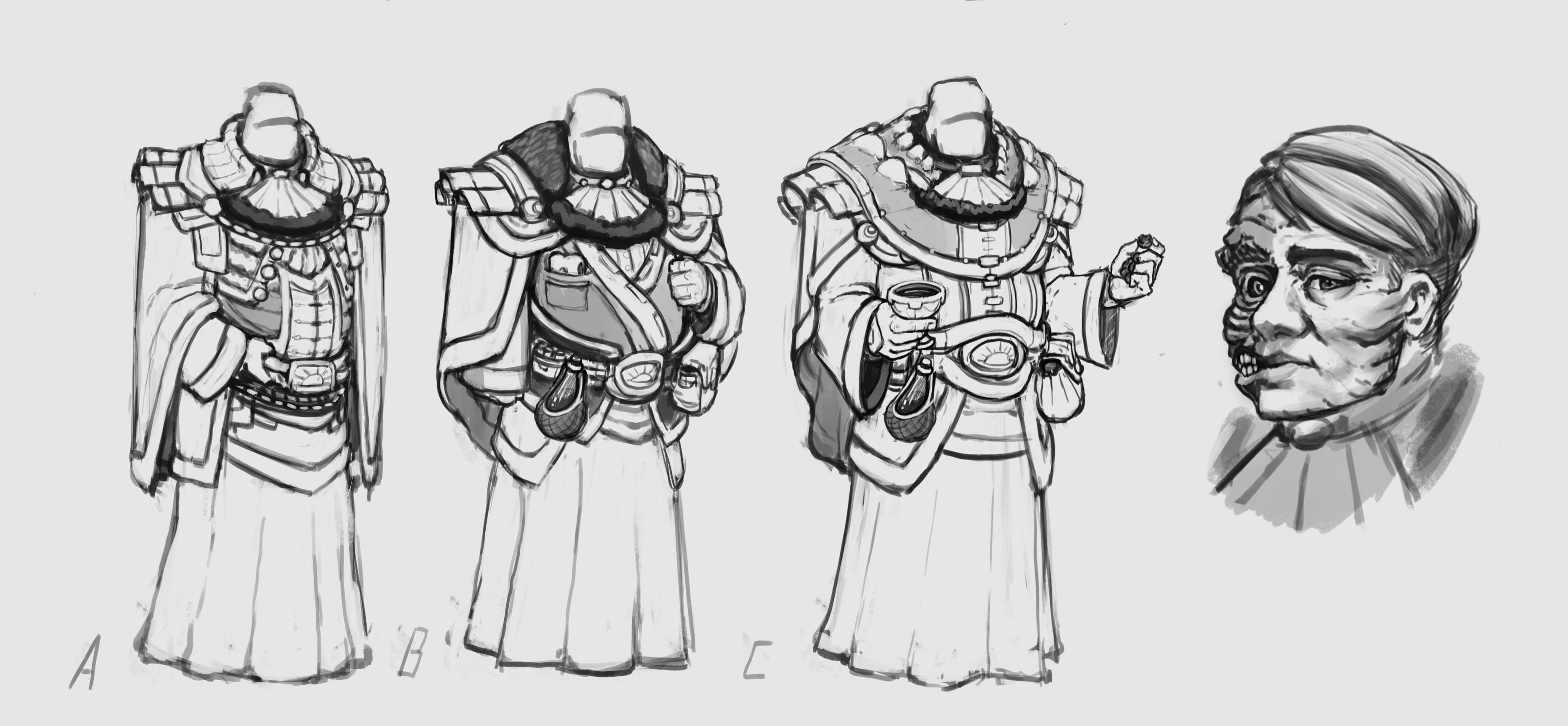 Character Sketch  Crane