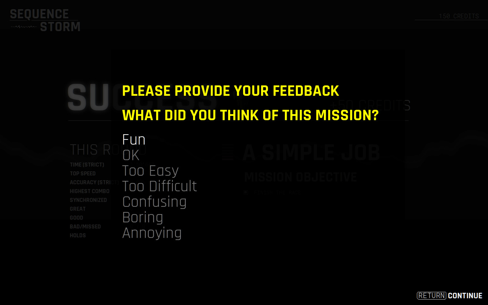 SEQUENCE STORM playtest feedback form