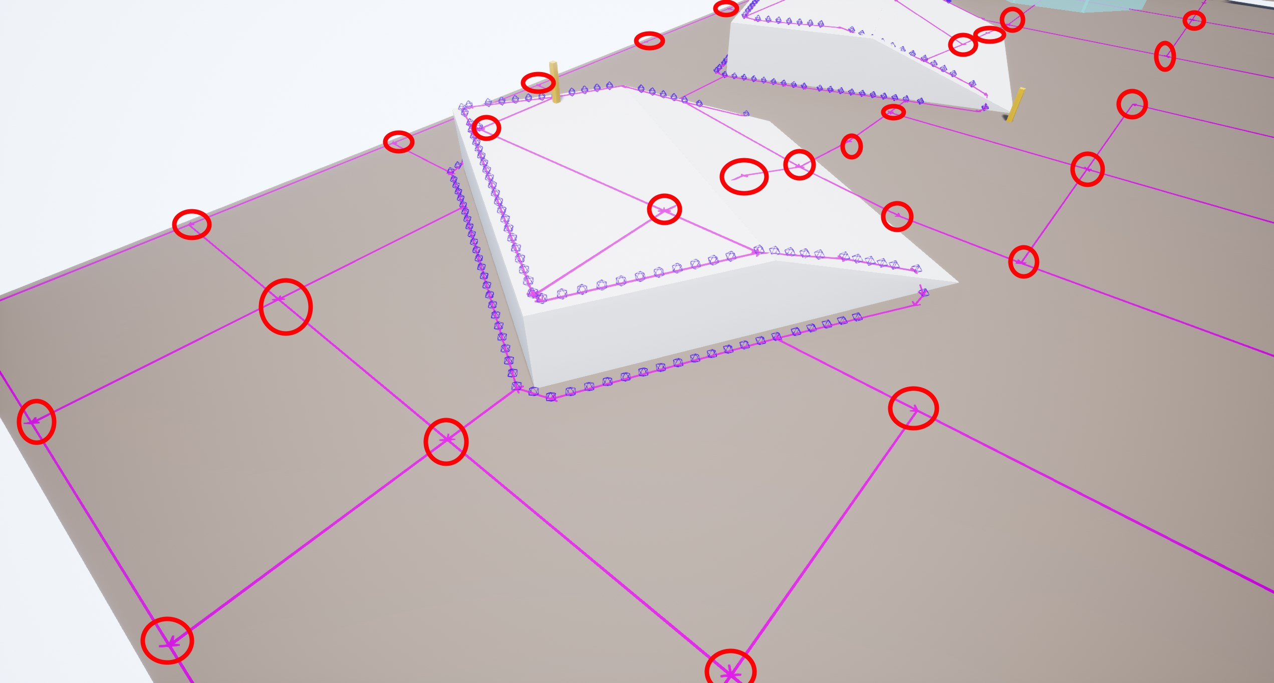 Navmesh excess vertices