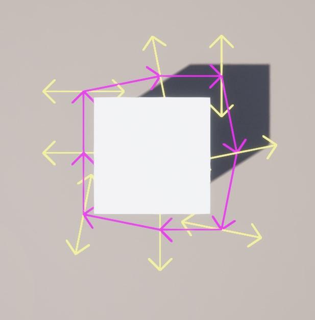 Perpendicular raycasts