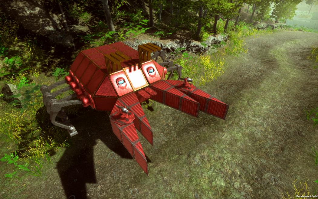 Red Crab vehicle machine Dieselpunk Wars
