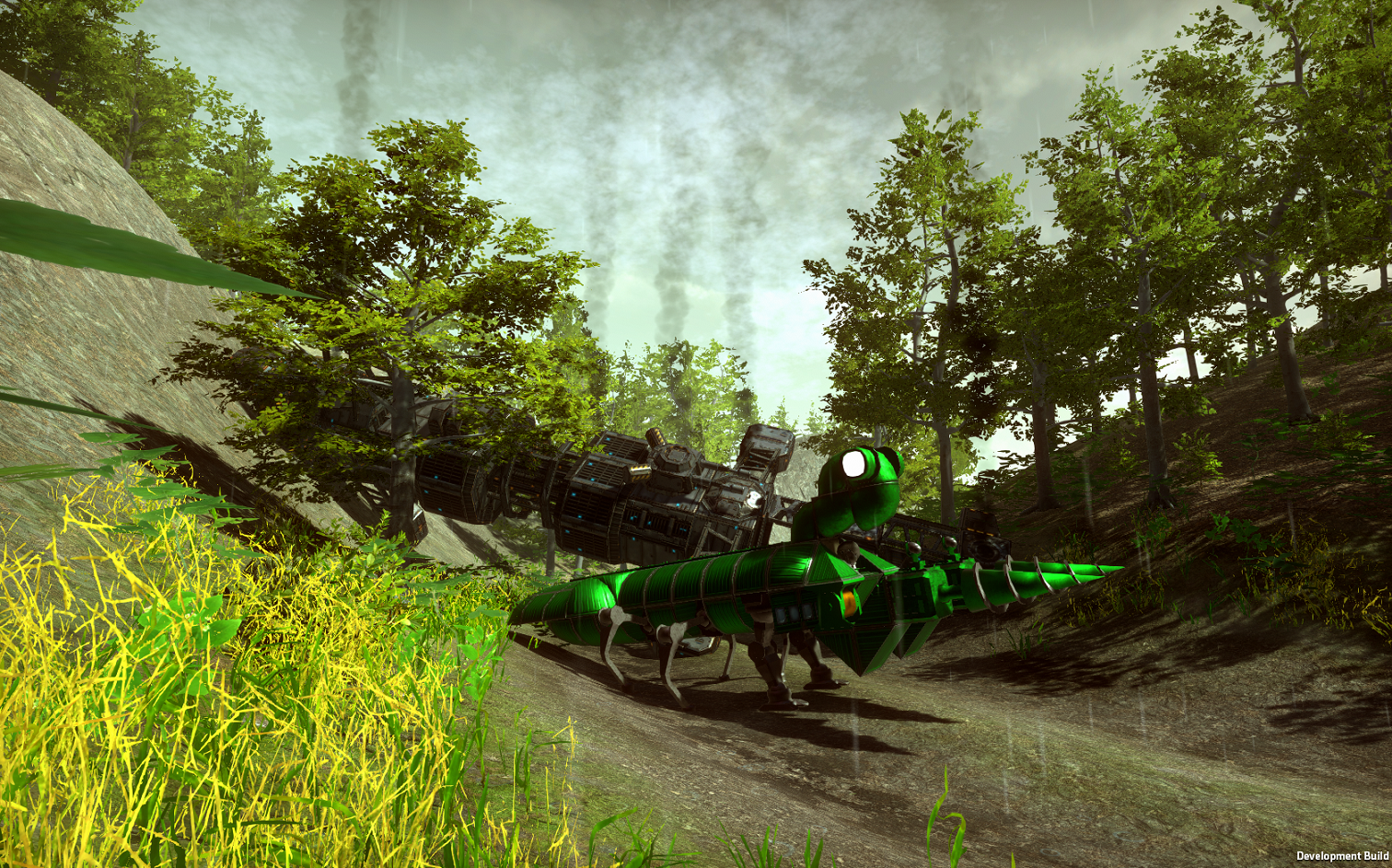 Green Mantis vehicle machine Dieselpunk Wars