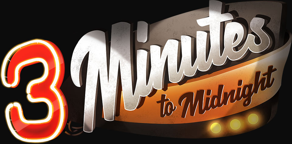 3 minutes to midnight logo