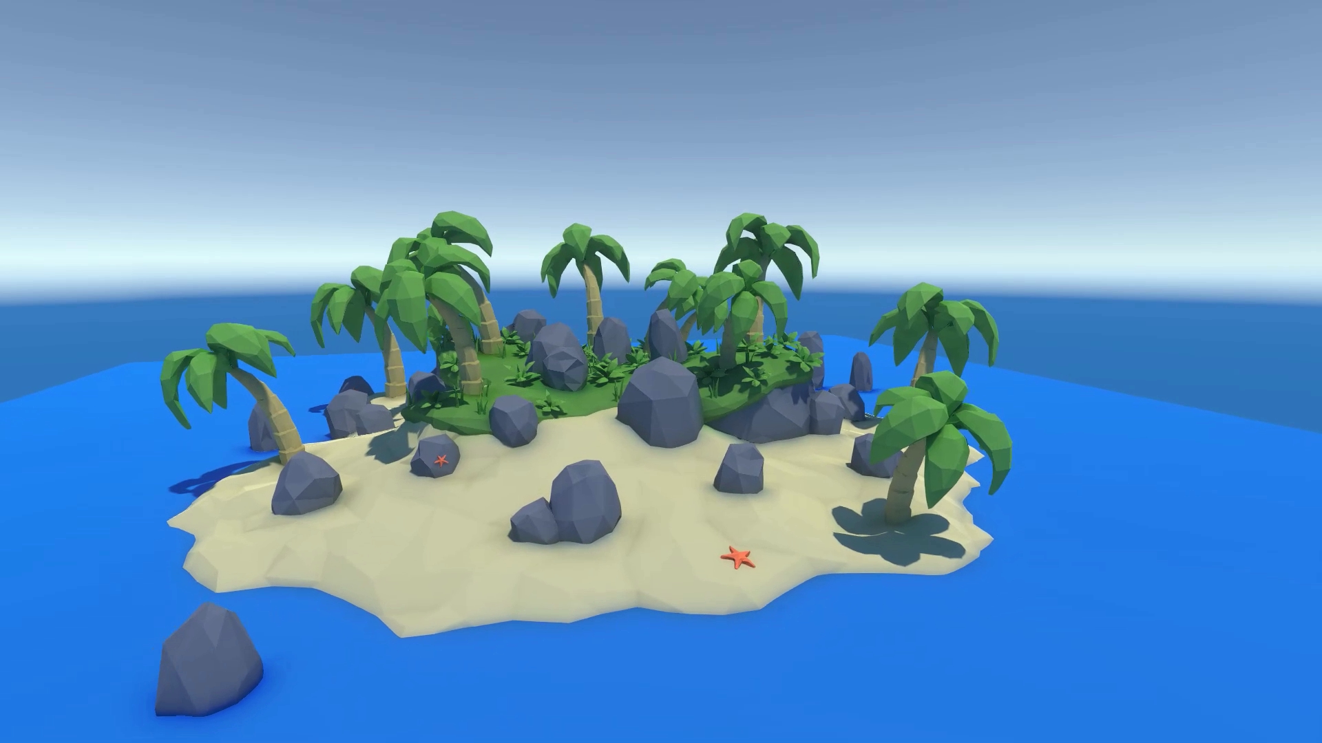 The tropical island map is finished!