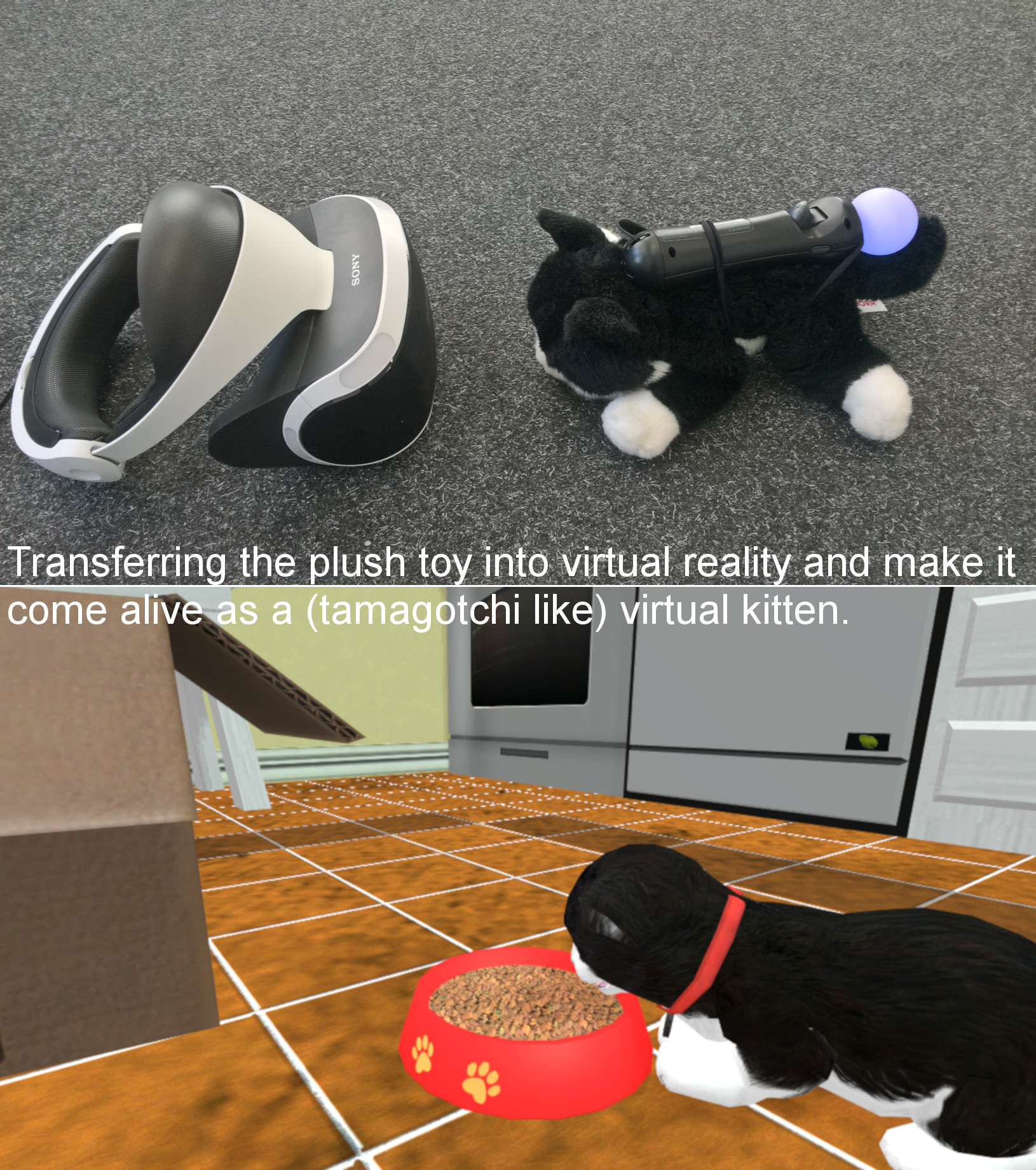 Sample image, showing the usage of the PS Move Controller