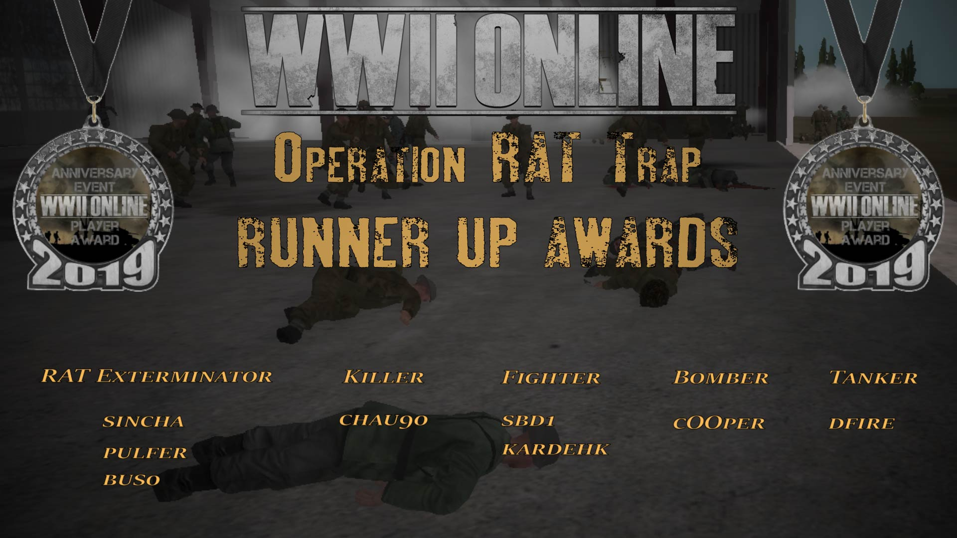 26 RAT Trap Medals