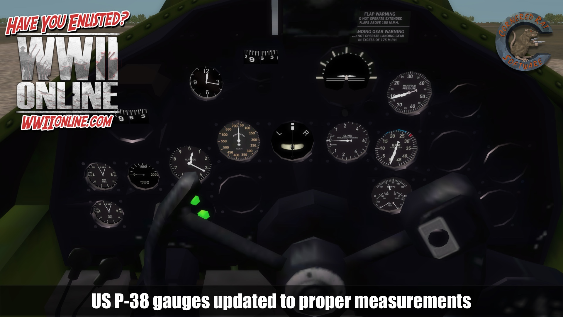 4 us p38 gauge update