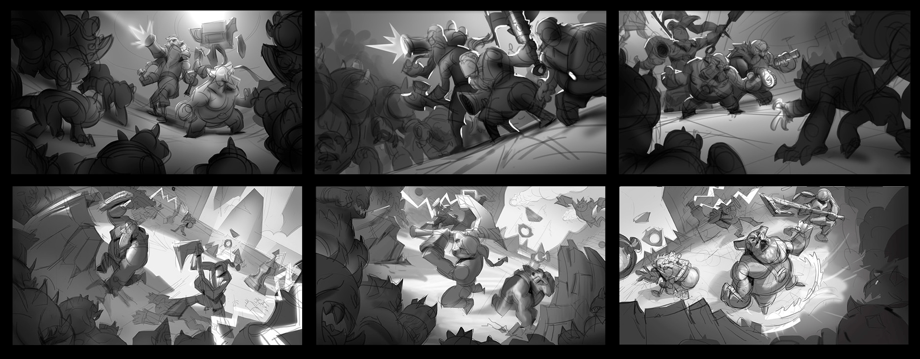 Thumbs to choose in the Concept Splash Art