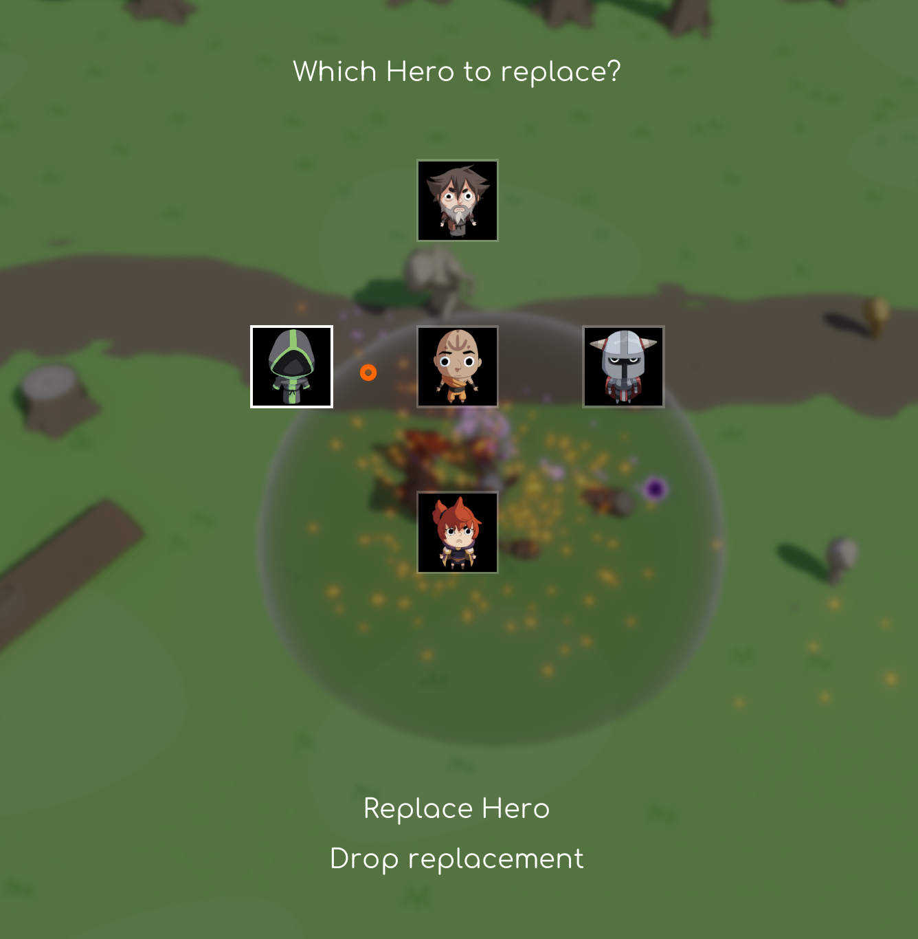 Hero replacement menu