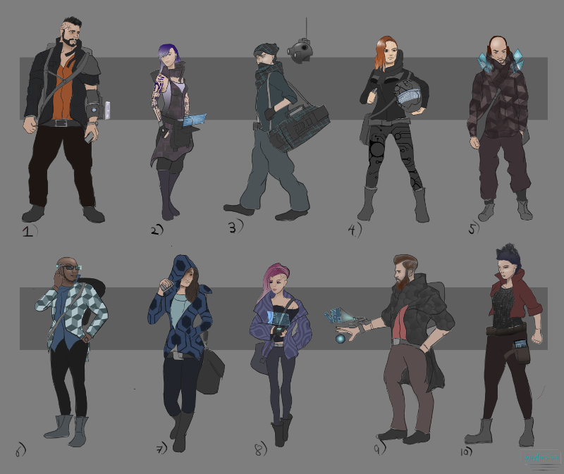 Character Artwork for Spycursion