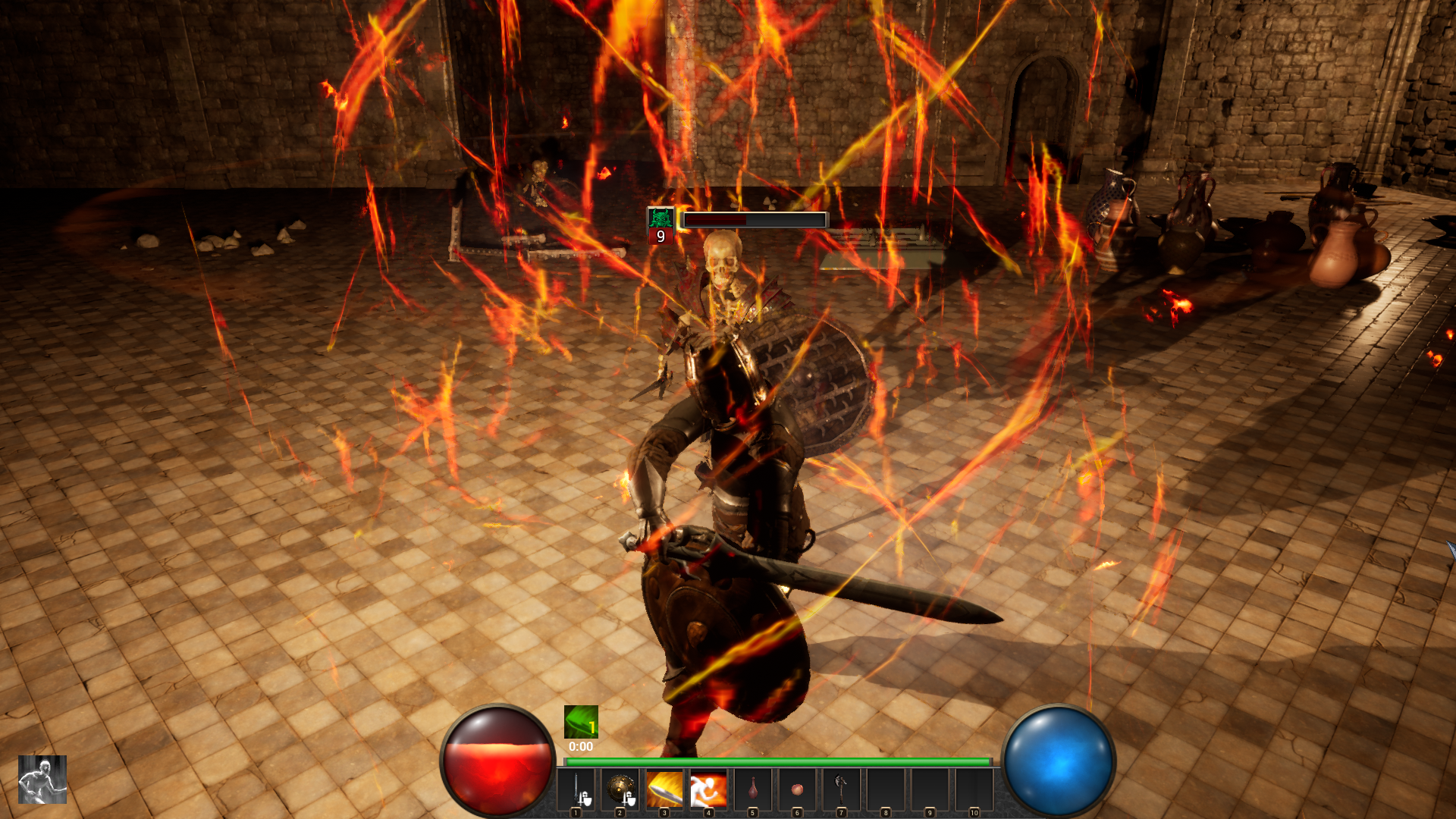 Screenshot of combat