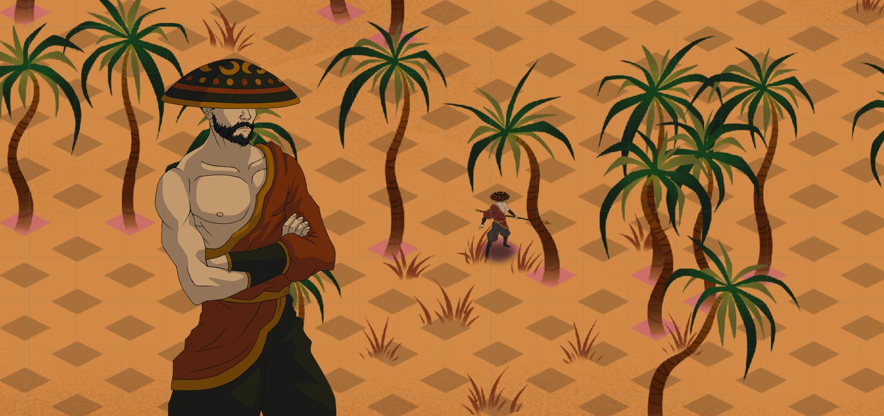 A traveler exploring a strange land.